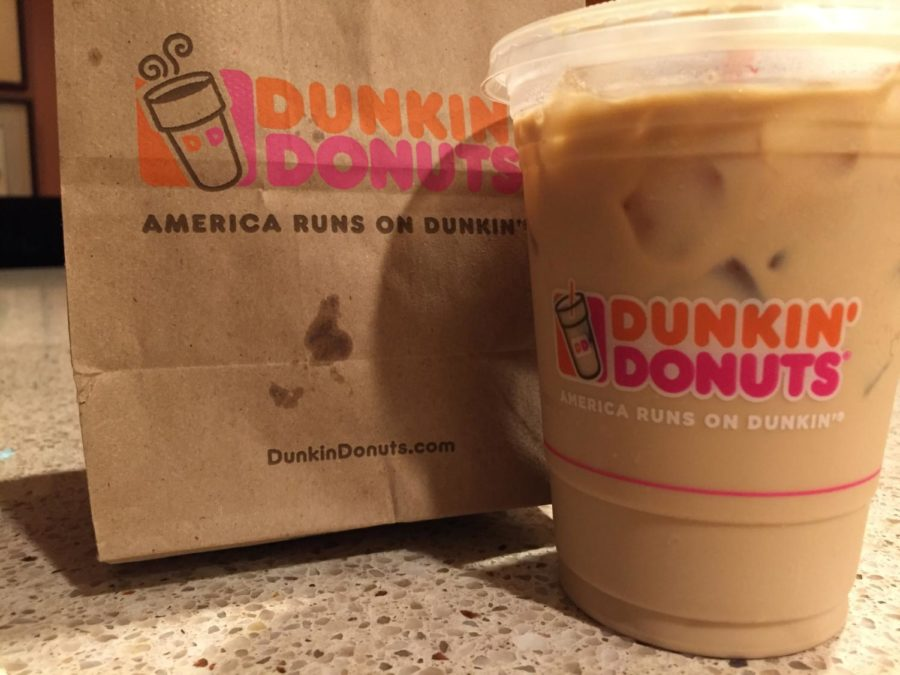 Dunkin' Donuts serves coffee, doughnuts, and breakfast options.