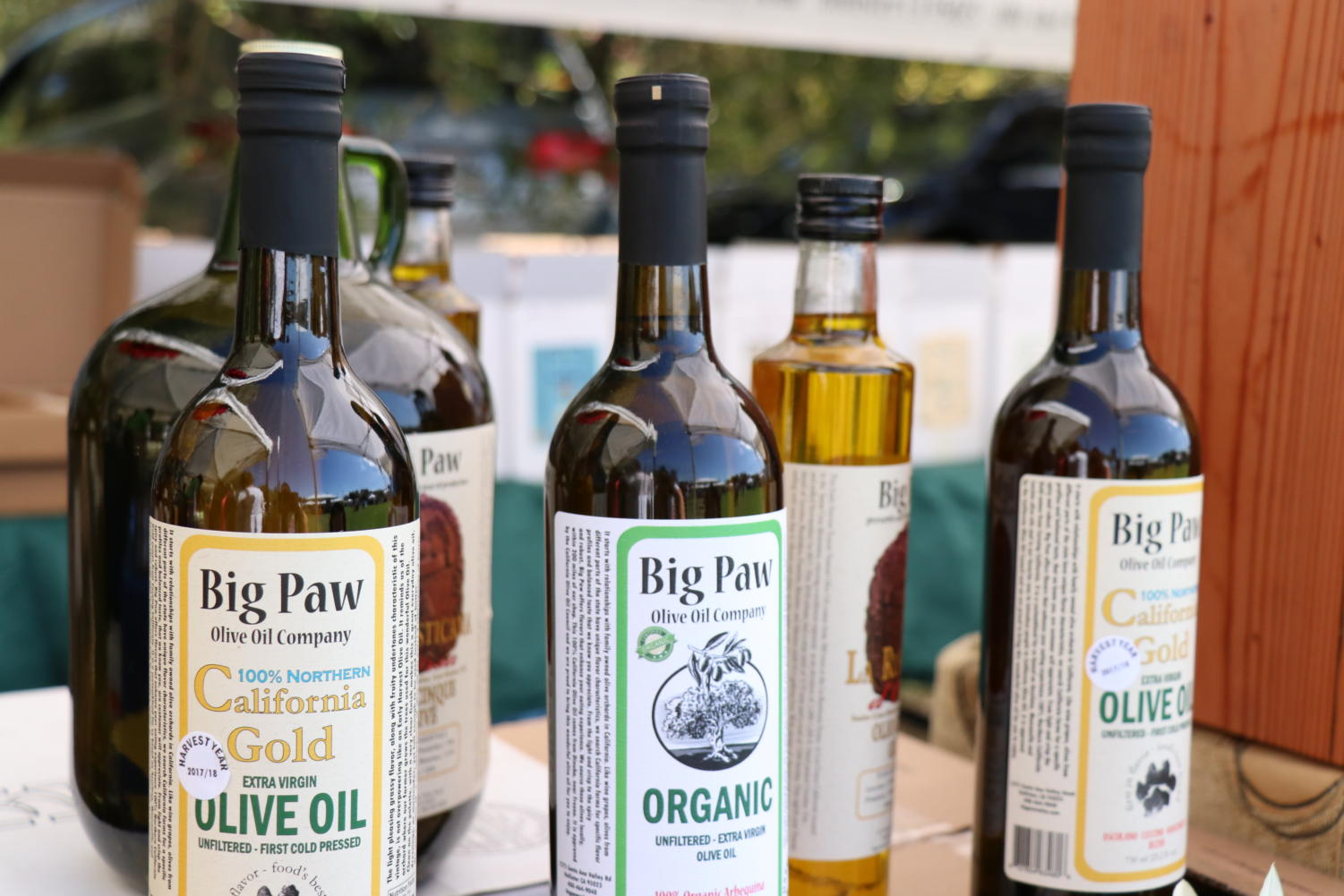 Vendors sell olive oil at Olive Festival in Fremont.