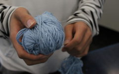 Sock Club meets weekly on Friday in room A11 to improve their knitting skills.