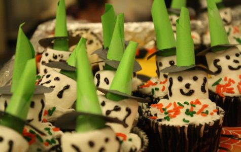 Students brought in different Halloween themed treats to the potluck including handmade marshmallow cupcakes.