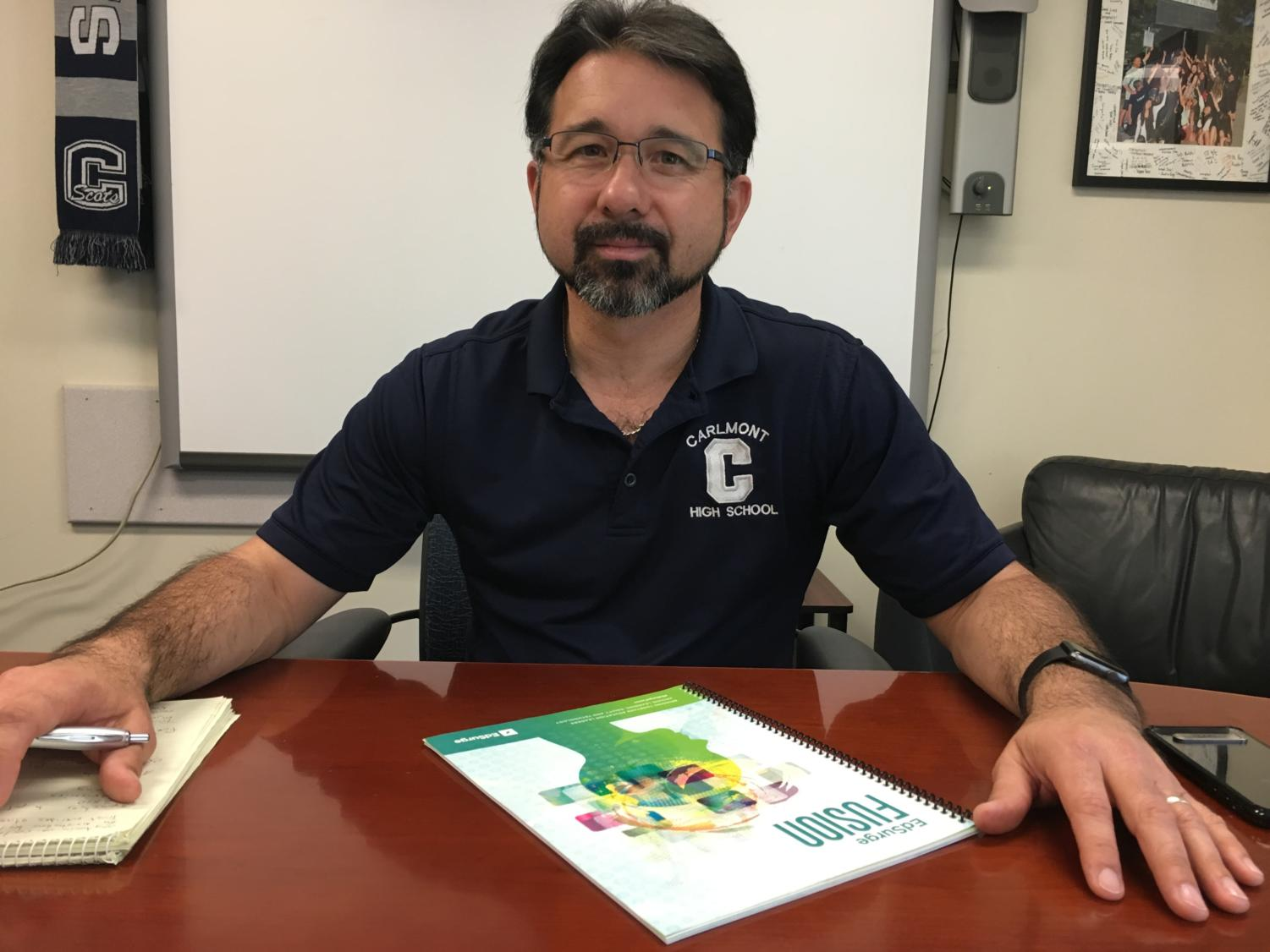Principal Ralph Crame works to reduce student stress