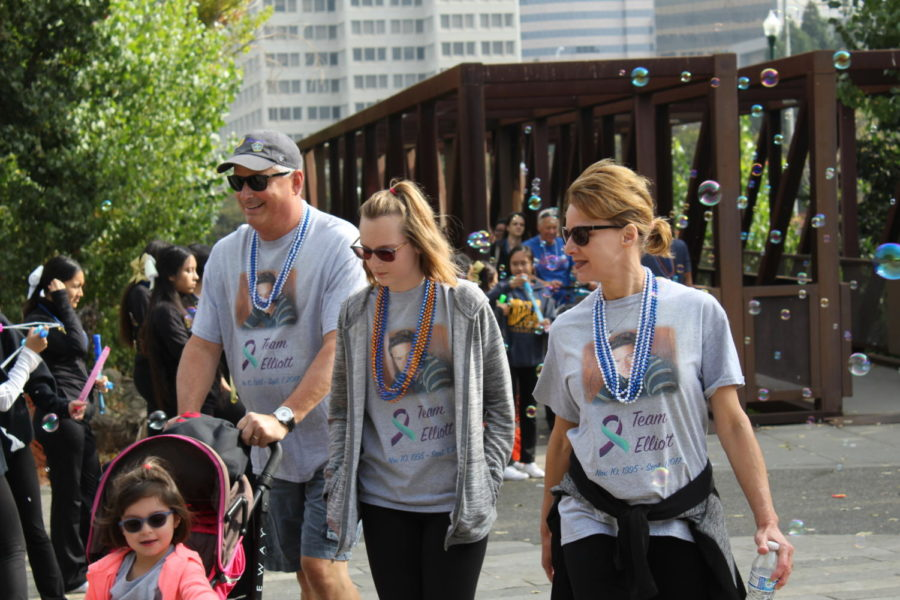 Team Elliot completes their walk together with pride.