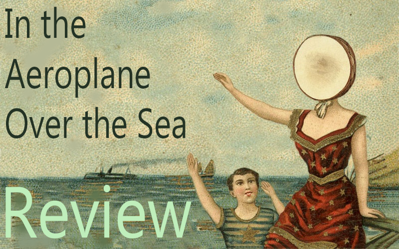 The cover of In the Aeroplane Over the Sea depicts a surrealistic image of what appears to be a be a woman with a tambourine head and a boy. Much like the lyrics of this album, the style is traditional, yet the content is largely interpretive.