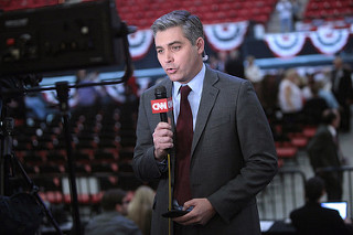 Jim Acosta reports at a campaign rally for Donald Trump on Feb. 22, 2016. Acosta's press pass was recently revoked by the Trump administration after his actions toward a White House intern were deemed