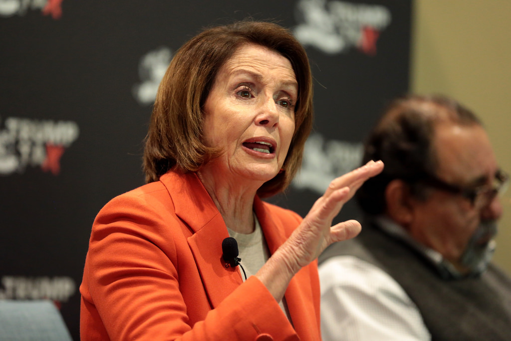 House Minority Leader Nancy Pelosi speaks at a Trump Tax Town Hall in Phoenix, Ariz.