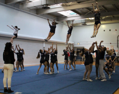 Cheerleaders jump into competition preparations
