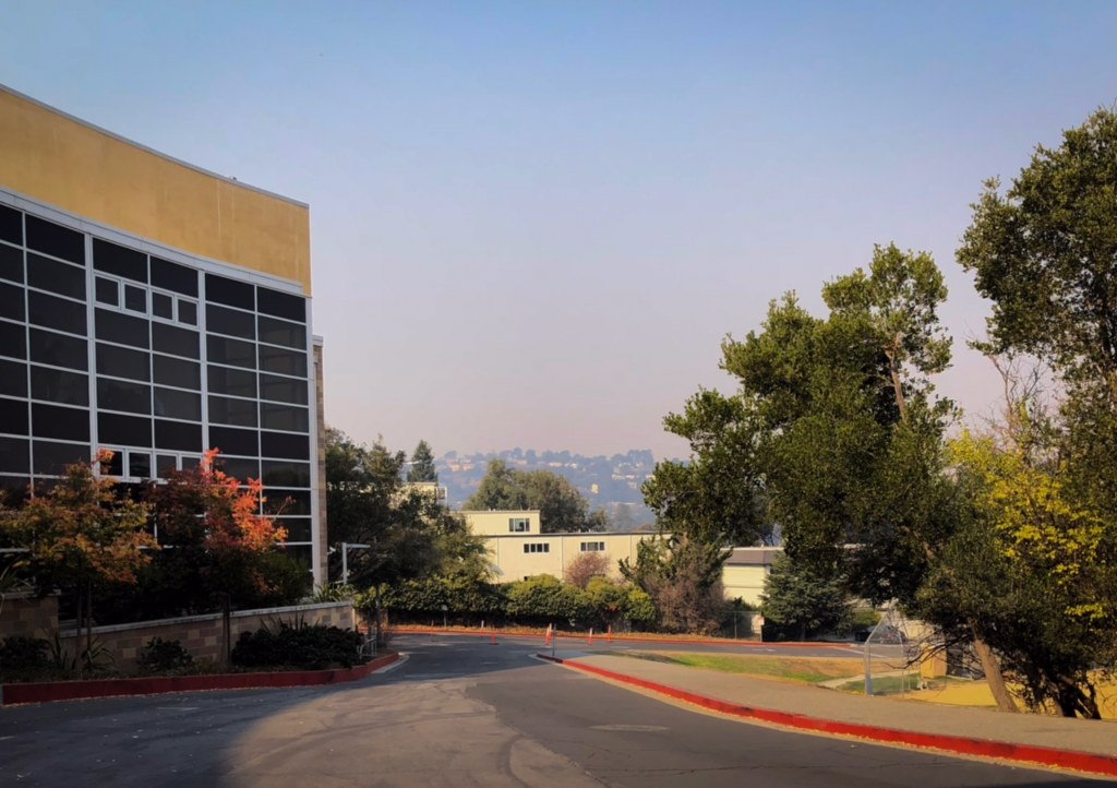 Smoke from California wildfires fills the sky as air quality worsens.