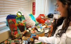 Students donate food for families in need