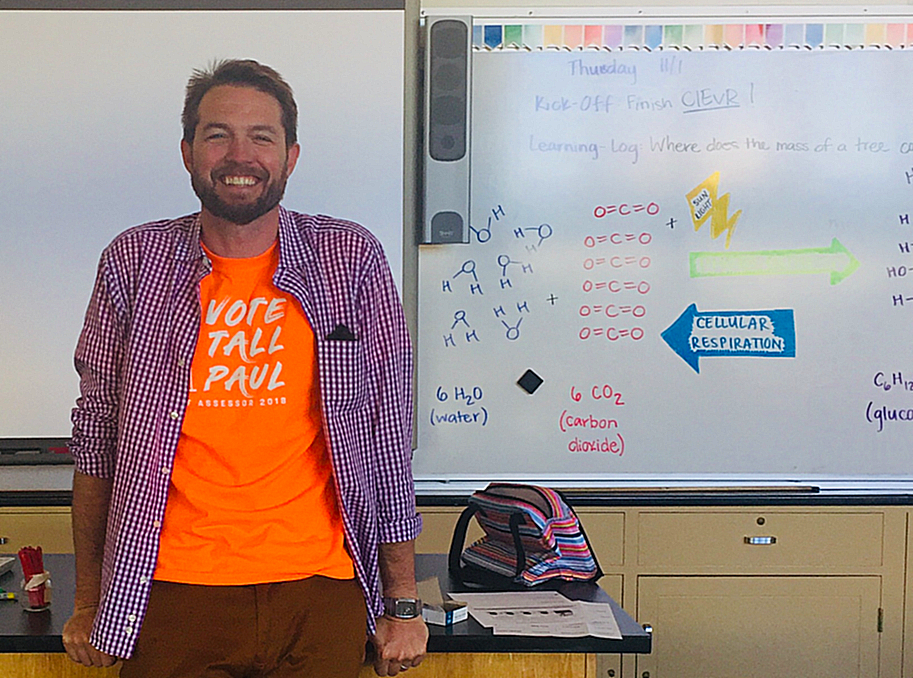 Science teacher Paul Bellar runs for the position of Assessor-Recorder in San Francisco.