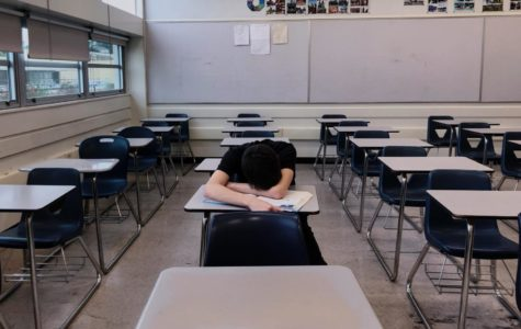 Students often sneak in naps during class to make up for lost sleep the night before.