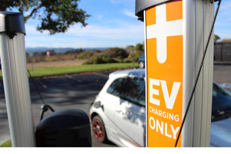 Found all around the Peninsula, electric vehicle charging stations are becoming more and more common.