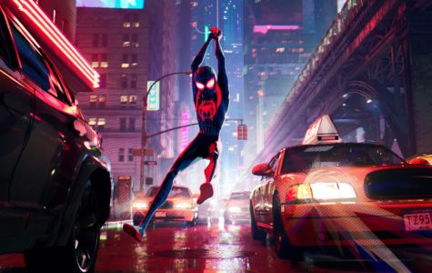 "Miles Morales swings into Brooklyn as one of six spider-people in ""Spider-Man: Into the Spiderverse."""