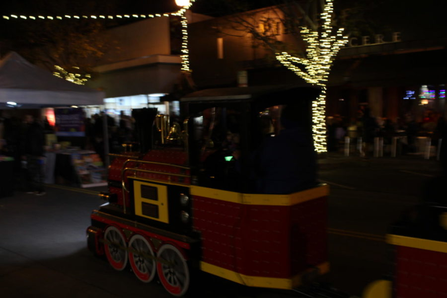 The festival included a train for kids to ride down Laurel Street.