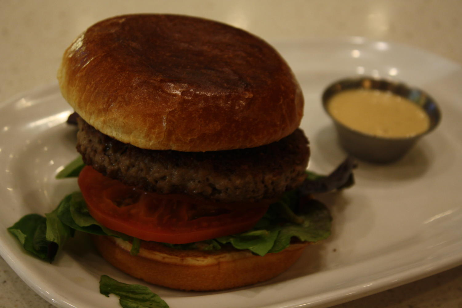 The Beyond Burger is a plant-based genetically modified burger served at The Counter.