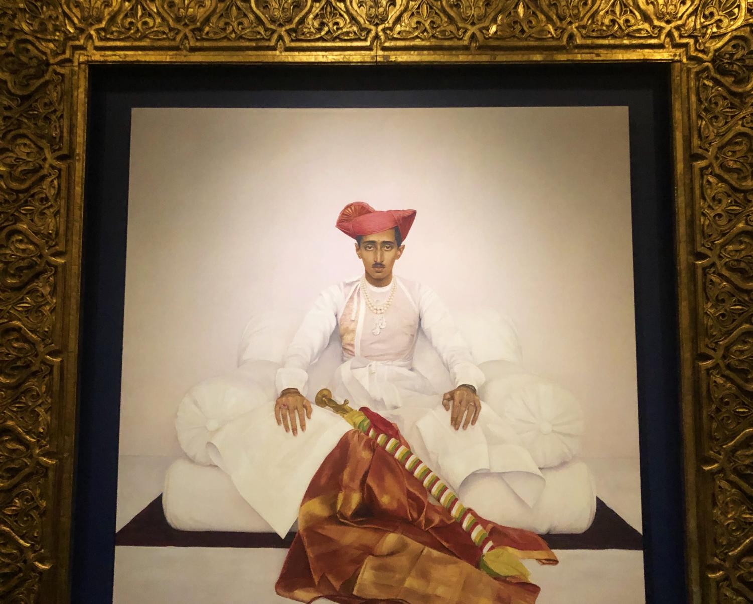 Paining of the Maharaja of Indore, 1908-1961, displayed in the museum.