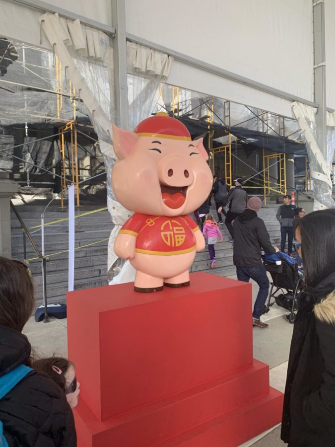 The pig is twelfth of the 12-year cycle of animals which appear in the Chinese zodiac calendar.