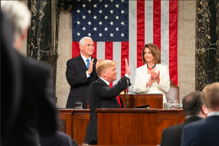 Donald Trump delivers his 2019 State of the Union address.