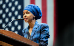 Ilhan Omar speaks at a