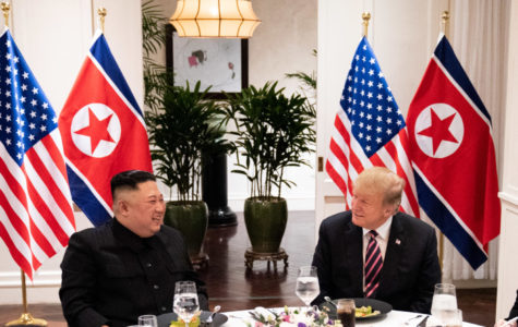 President Donald Trump and Kim Jong-un meet for a social dinner on at the Sofitel Legend Metropole hotel in Hanoi for their second summit meeting.