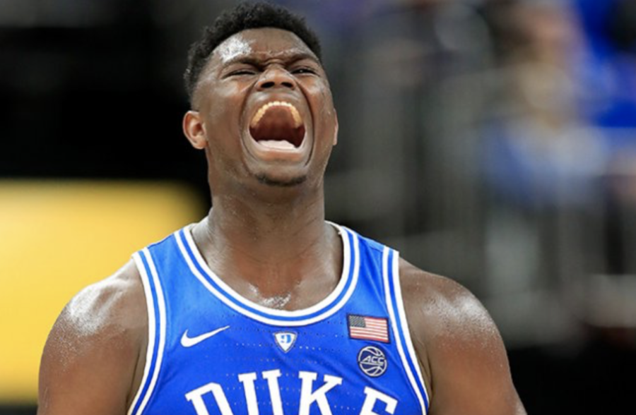 Zion+Williamson%2C+a+freshman+at+Duke+University%2C+is+the+projected+number+one+pick+of+the+2019+NBA+draft.+