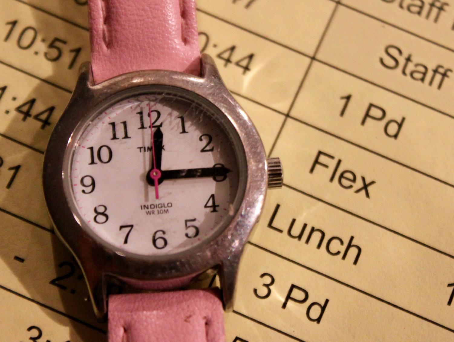 Flex time on Wednesdays and Thursdays will allow student-athletes to catch up on work they miss for sporting events.