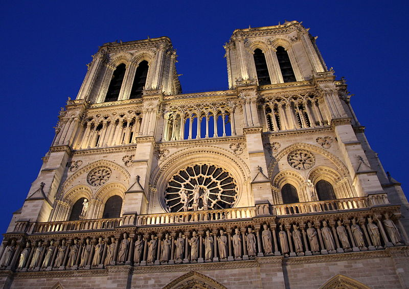 Notre-Dame Cathedral in Paris was completed in the 13th Century. On Monday night, the Cathedral went up in flames, with the fire destroying the roof and the spire.