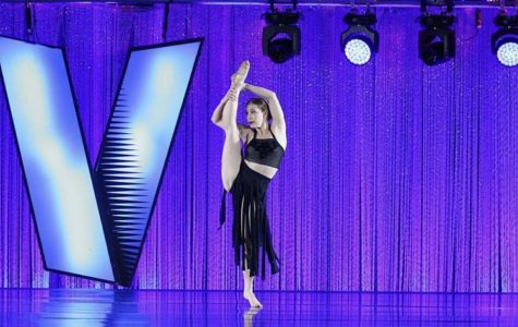 Dancer Claire Schick competing with her solo at Velocity.