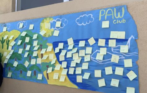 Carlmont PAW Club strives to raise awareness on endangered animals with a poster activity.