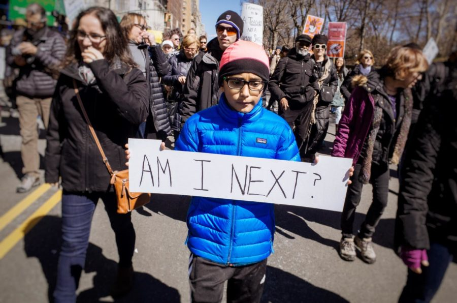 Students in New York City led a March For Our Lives rally for gun control in the U.S.