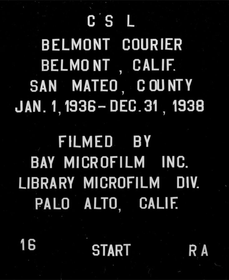 The Belmont newspaper archives date back as far as 1936.