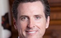 Gavin Newsom's official portrait from his time in San Francisco.