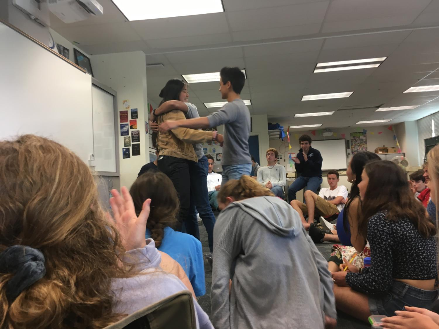 ASB+students+embrace+each+other+during+speeches+for+%22True+Scot%22+pins.