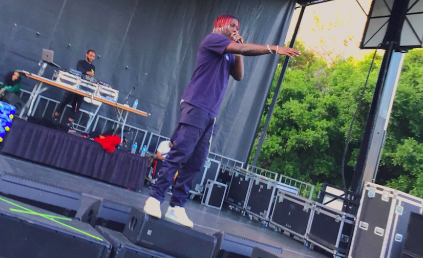 Lil Yachty gets on stage to perform during Blackfest.