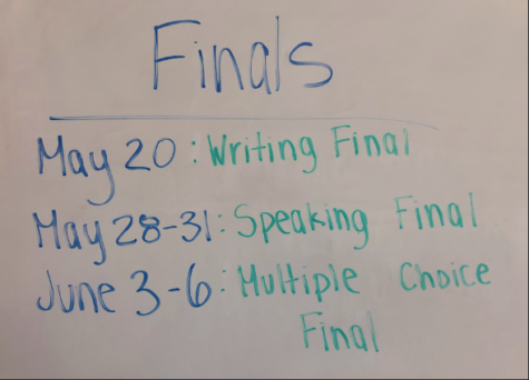 Only finals stand between students and break