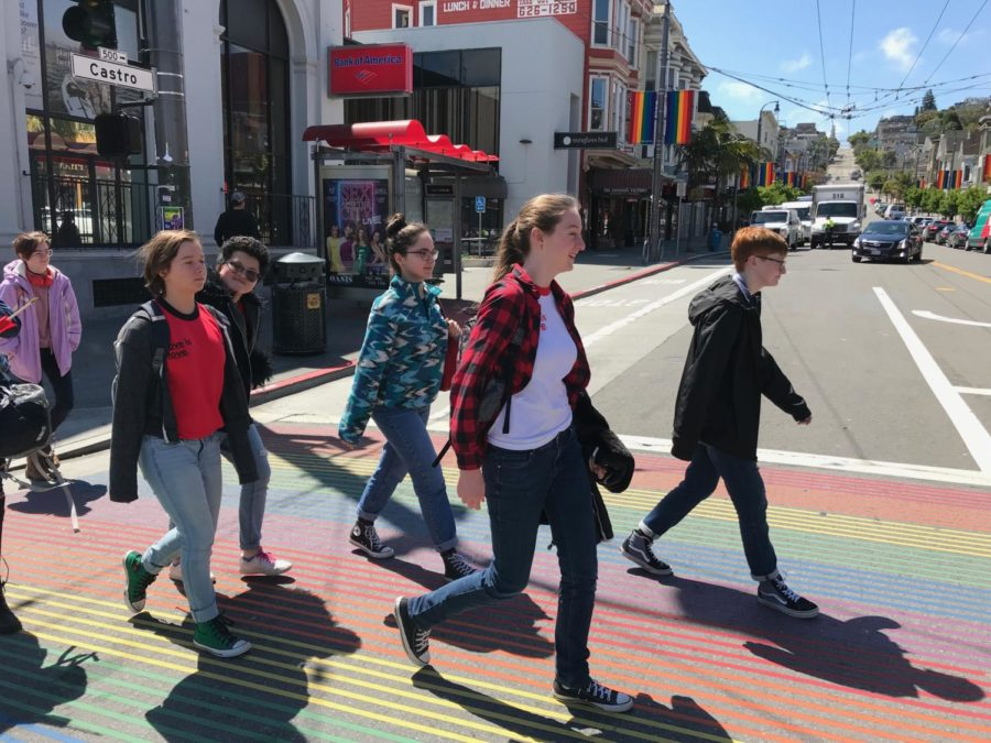 The+Gender-Sexuality+Alliance+takes+their+annual+field+trip+to+the+Castro+District+in+San+Francisco.+