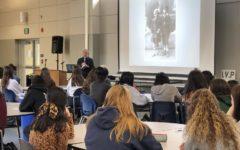 Holocaust survivor speaks to history classes