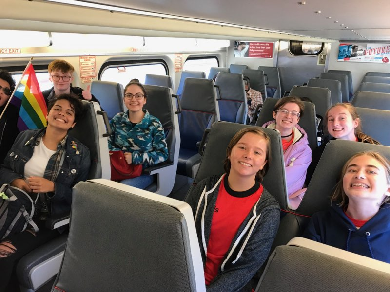 Students+took+a+train+up+to+San+Francisco+from+Carlmont+to+visit+the+Castro.