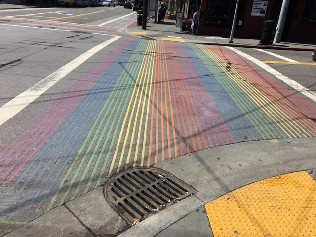 In+2014%2C+San+Francisco+painted+rainbow+crosswalks+in+honor+of+the+LGBT+community+within+the+city.