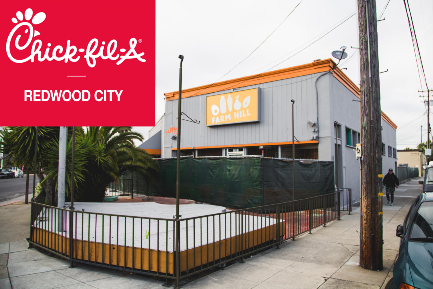 The new Chick-fil-A will reside in Redwood City, Calif.
