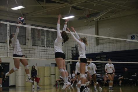 Carlmont girls varsity volleyball walks away victorious against Terra Nova