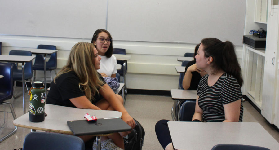 Sophomores Jessica Conley, Keria Swei, and Arcelia Duran discuss how they can help counter climate change.