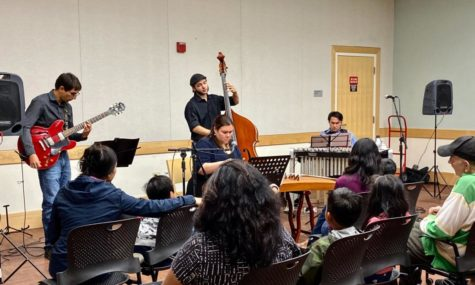 Band performs in Belmont Library for the Mid-Autumn Festival