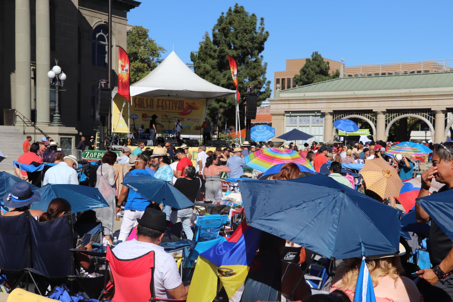 People came from across the Bay Area to attend Redwood City's Salsa Festival.