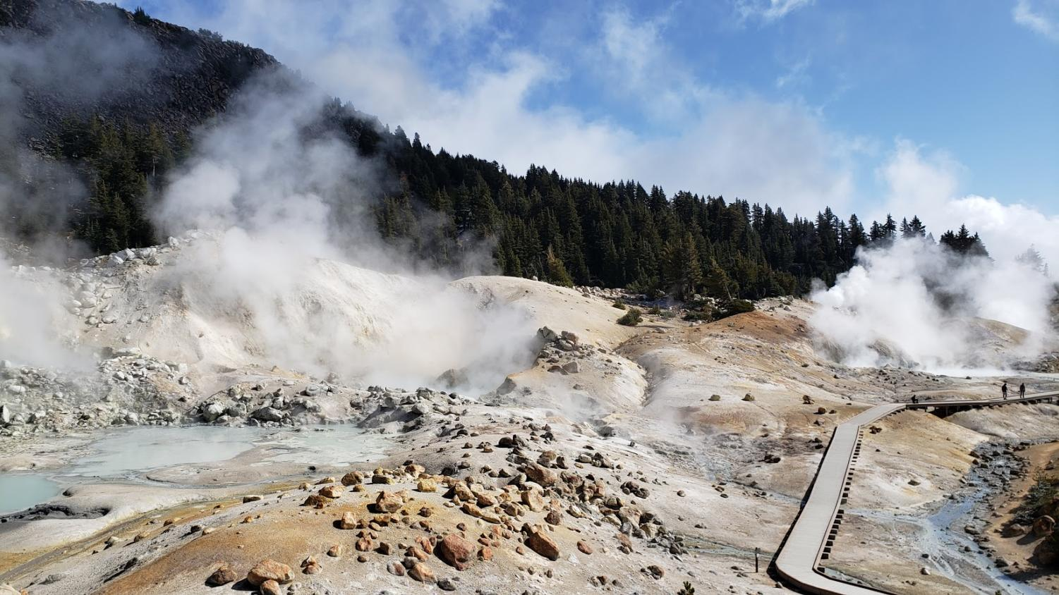 The Lassen Volcanic National Part is stunning to look at.