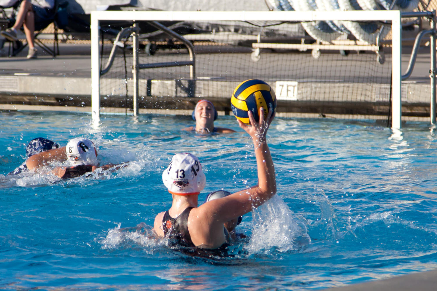 Half Moon Bay senior Lili Nelson aims for the goal.