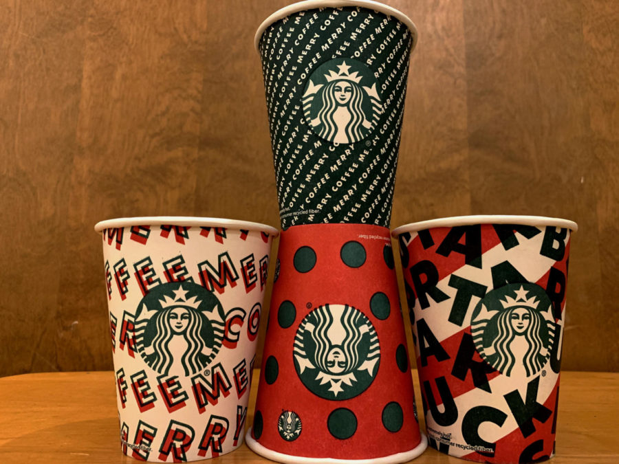 Bold+patterns+grace+the+Starbucks+cups+of+the+2019+holiday+season.++According+to+Jen+Quotson%2C+vice+president+of+Starbucks+Creative%2C+the+cups+are+meant+to+represent+%E2%80%9Ca+gift+to+Starbucks%E2%80%99s+partners+and+customers.%E2%80%9D