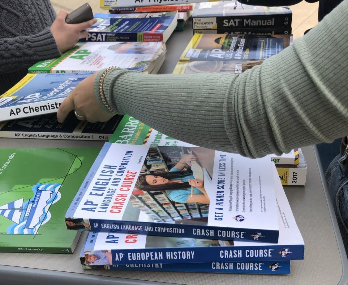 This week, ASB put on a book drive for people to donate AP review books.