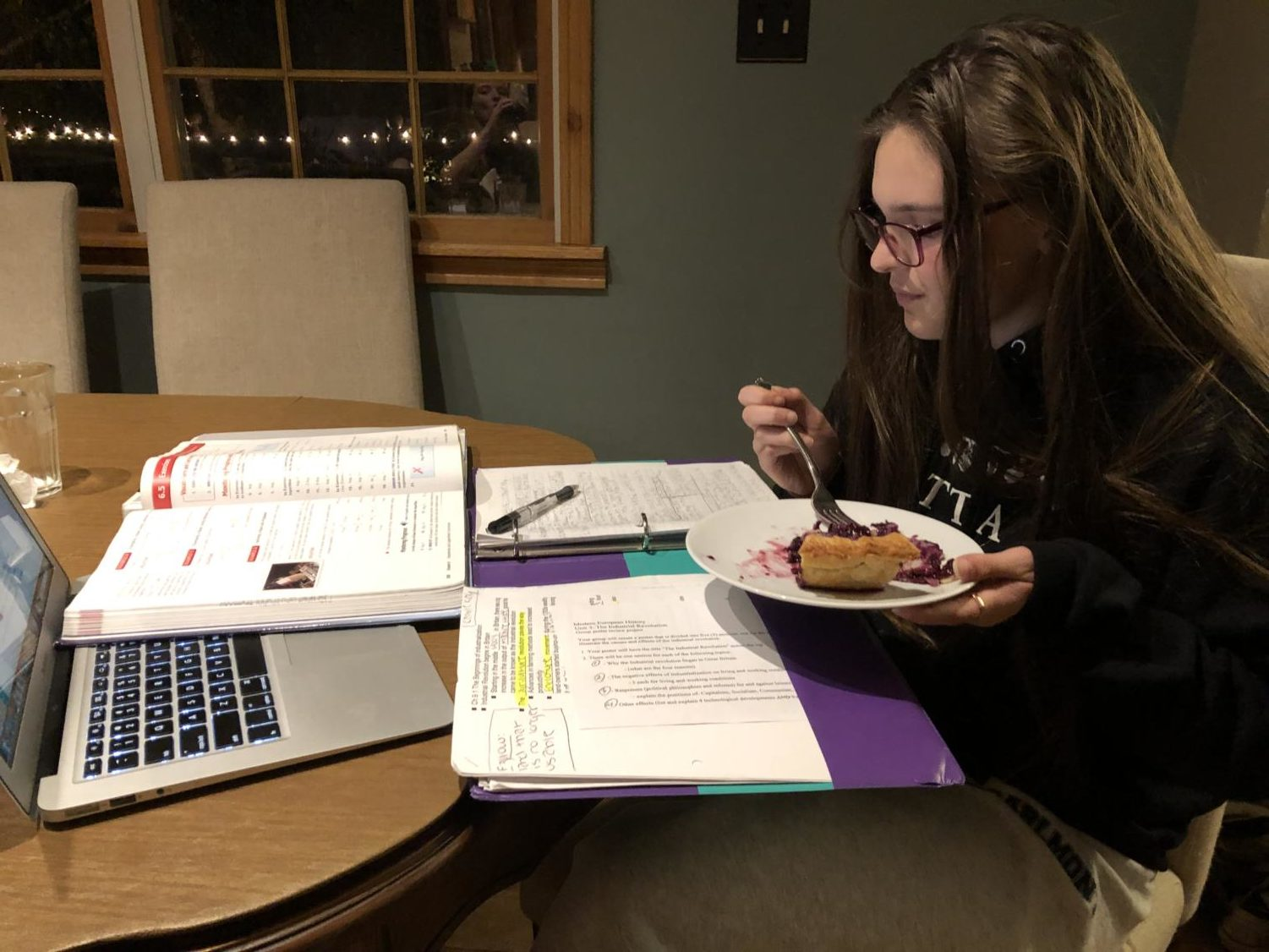 Some students use Thanksgiving break to study for fast-approaching finals.