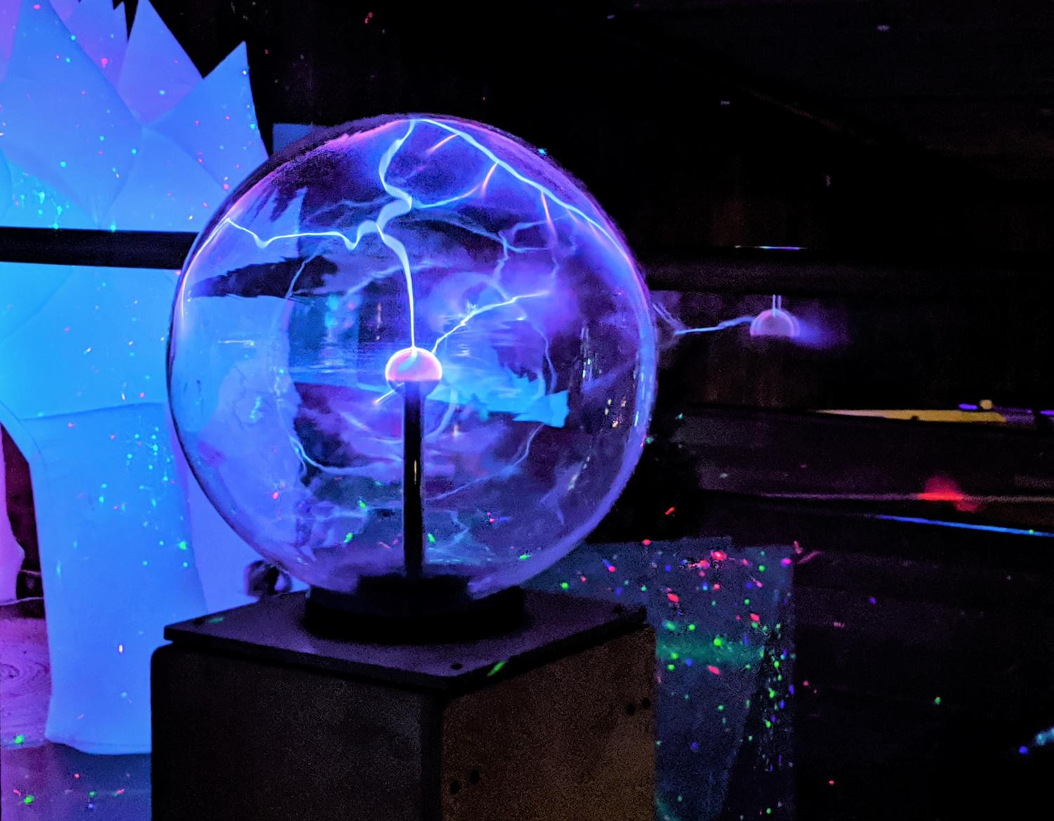 While it is actually plasma instead of light, the plasma ball in CuriOdyssey's IlluminOdyssey exhibit still serves to amaze the children who visit.