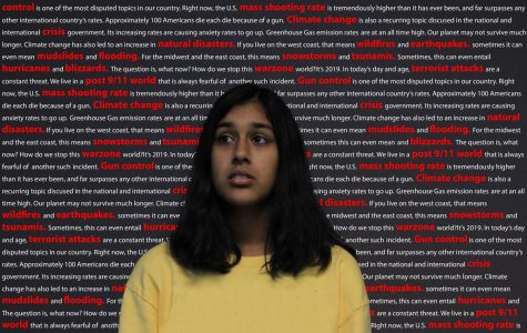 A teenage girl has anxiety on the brain as she thinks about the world post 9/11.
